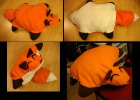 Cibified Fox Plushie Pillow by Dragontrap