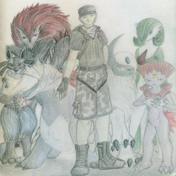 Pokemon Drawing Challenge - Thirty-One - Rival by CaseMayday