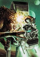 Rancor vs AT-AT Walker by Robert-Shane