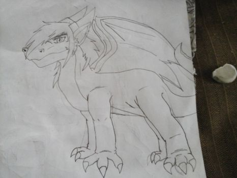 Drawing mack's dragon body form for the first time by Terrix250