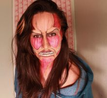 Attack on titan makeup by zombieloverkey