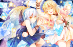 Prize : Nighttime Sisters And The Starlit Sky by AquaZircon