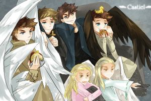 Castiel Family by magician1999