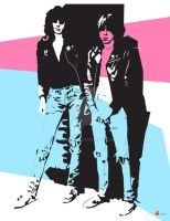 Johnny-Joey Ramone Dynamic Duo by medek1