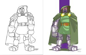 Doctor Doom Collab-color by cheeks-74