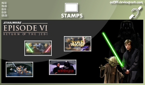 Stamps - 1983 - Star Wars Episode 6 Return Of The  by od3f1