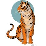 free tiger lineartCOLORED   read rules by hype by PwNno0bS