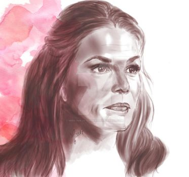 abby griffin portrait 105 / paige turco / the 100 by miss-ninja-cookie