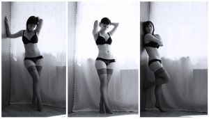 Lingerie triptych by I-V-S