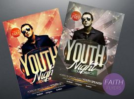 Youth Night Church PSD Flyer Template by ImperialFlyers