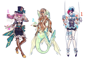 ADOPTABLE SET 23: ce maudit cirque! | CLOSED by CARPFISH