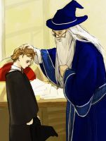 HP: small Remus and Dumbledore by azmin