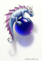Dragon and a Glass ball by KatLouhio
