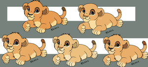 Cub adopts (closed) by LionsoftheGrasses