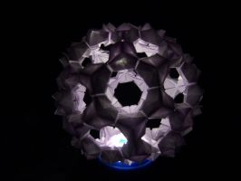 Origami BukyBall blue effect by YukiSakuma