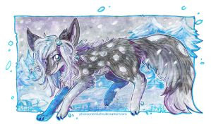 Snow taking a walk in the snow 8D by Pharaonenfuchs