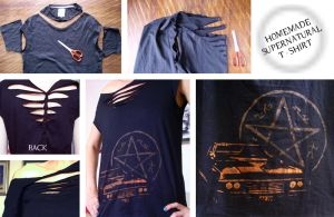 Supernatural T-shirt by Mikyechelon