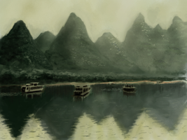 chinese mountains study by whatthebooty