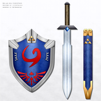 New Age Deku Shield + Hero's Sword by BLUEamnesiac