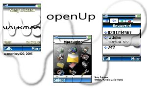 openUp Sony W800i theme by jimmyselix