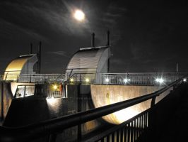 Moonlight Over the Barrage by Kevin-Welch