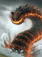 Infernal Wyrm by joelhustak