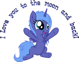 Woona Loves You to the Moon and Back! by Fooleraid