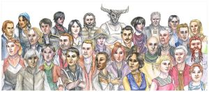 Dragon Age Modern Style - The Whole Gang! by liannimal