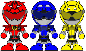 Chibi GoBusters Powered Custom by Zeltrax987