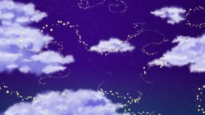 Cloudy Stars Wallpaper by SharmClucas