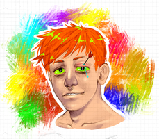 Random ginger dude by Mallowee