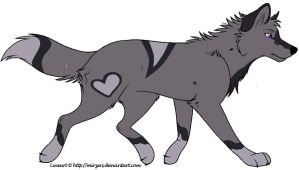 Silverheart the wolf by JENNY8888
