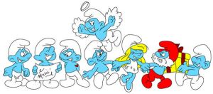 8 Little Smurfs by musable