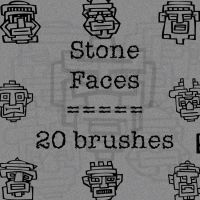 Stone faces by rL-Brushes