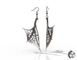 Wing Earrings with Fish Hook 1 by improbablecog