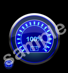100 Percent Battery Charged LED Gauge Stock PSD by xxdigipxx