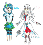 Lily and Delta Anime by ComputerDragon
