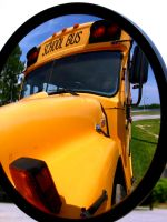 reflecting schoolbus 1 by themimehunter