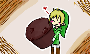 Link and his muffin by wiissbb123600