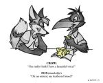 The Fox and The Crow by theInkMenagerie
