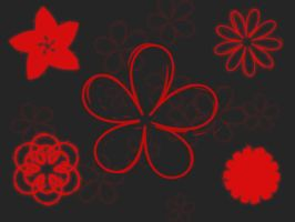 Smudged Flowers Brushes by xara24