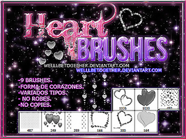 ~Heart.BRUSHES by WellBeTogether