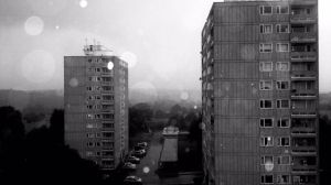 bw rainy day flat view by LETSOC