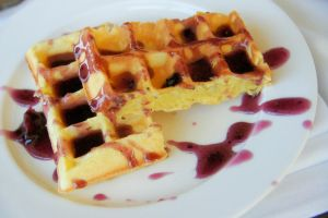 Waffles in Blueberry Syrup by splgum