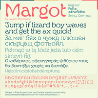 Margot Font Specimen by nymphont