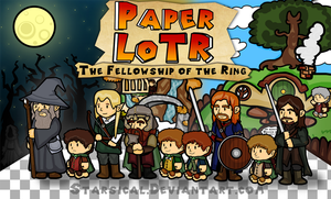 Paper Lord of The Rings by Starsical