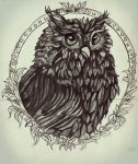 Wise Owl Painted With Effect by Seven-dirty-words