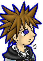 Sora with Blue lining by somechick73
