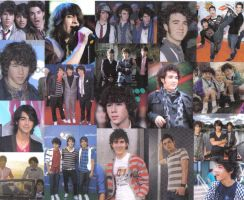 jonas brothers collage by csoccerchic101