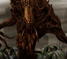 Zerg vs Terran Marines by VerdRage